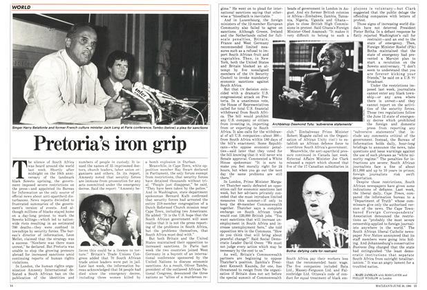 Article Preview: Pretoria's iron grip, June 1986 | Maclean's