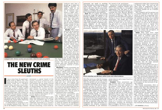 Article Preview: THE NEW CRIME SLEUTHS, June 1986 | Maclean's