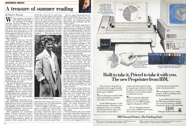 Article Preview: A treasure of summer reading, June 1986 | Maclean's