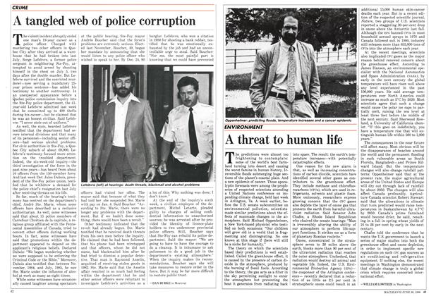 Article Preview: A tangled web of police corruption, June 1986 | Maclean's