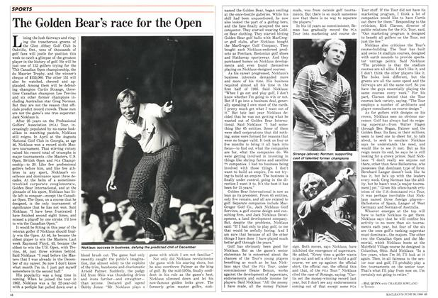 Article Preview: The Golden Bear's race for the Open, June 1986 | Maclean's