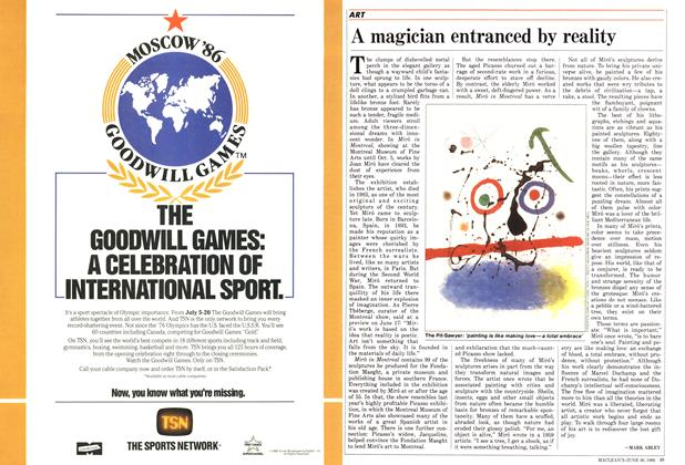Article Preview: A magician entranced by reality, June 1986 | Maclean's