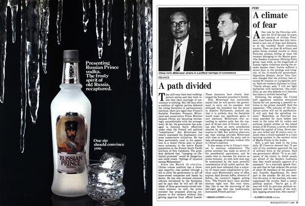 Article Preview: A path divided, JULY 7,1986 1986 | Maclean's