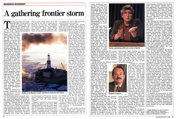 Article Preview: A gathering frontier storm, JULY 7,1986 1986 | Maclean's