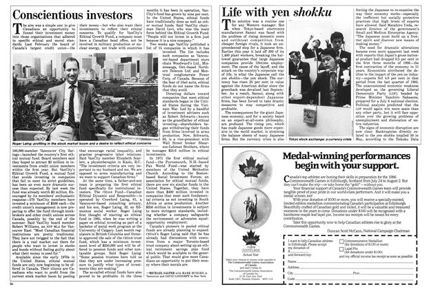 Article Preview: Conscientious investors, JULY 7,1986 1986 | Maclean's