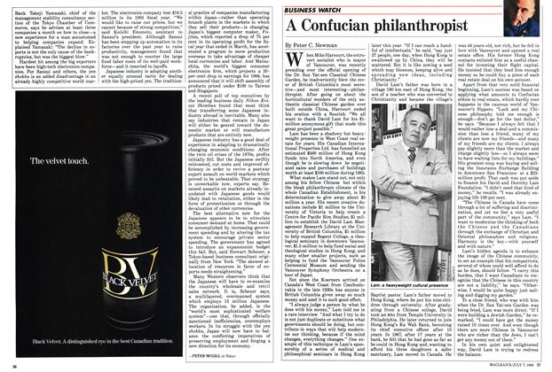 Article Preview: A Confucian philanthropist, JULY 7,1986 1986 | Maclean's