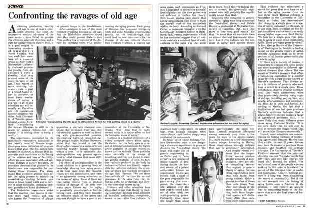 Article Preview: Confronting the ravages of old age, JULY 7,1986 1986 | Maclean's