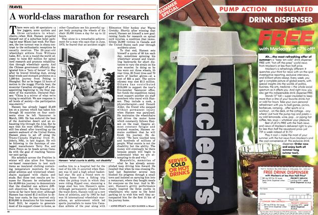 Article Preview: A world-class marathon for research, JULY 7,1986 1986 | Maclean's
