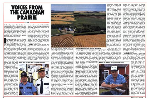 Article Preview: VOICES FROM THE CANADIAN PRAIRIE, JULY 7,1986 1986 | Maclean's