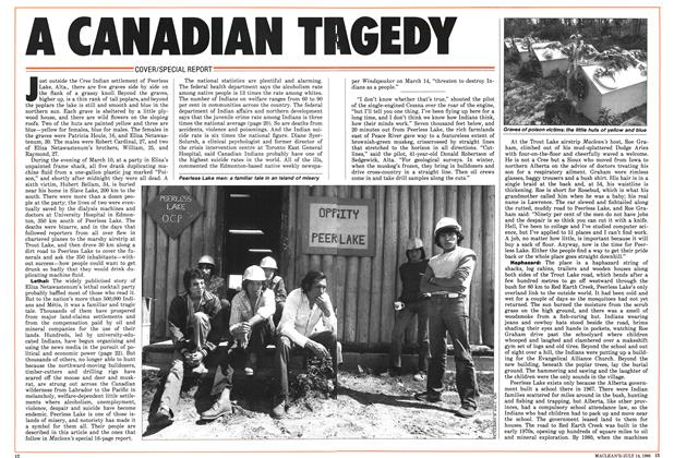 Article Preview: A CANADIAN TRAGEDY, July 1986 | Maclean's