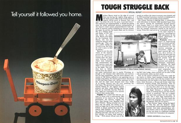 Article Preview: TOUGH STRUGGLE BACK, July 1986 | Maclean's