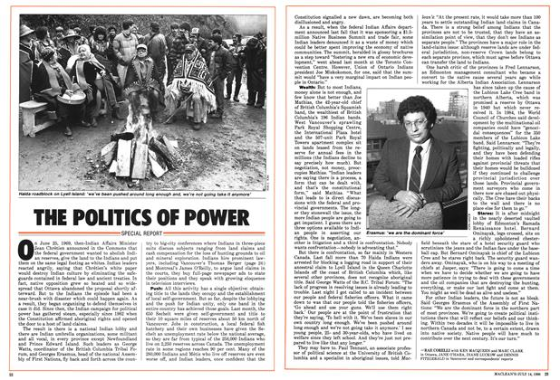 Article Preview: THE POLITICS OF POWER, July 1986 | Maclean's