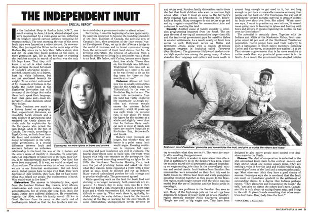 Article Preview: THE INDEPENDENT INUIT, July 1986 | Maclean's