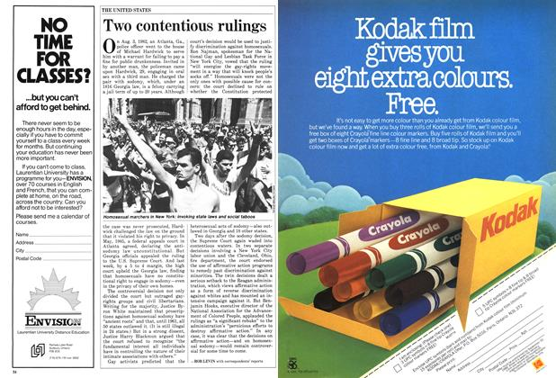 Article Preview: Two contentious rulings, July 1986 | Maclean's