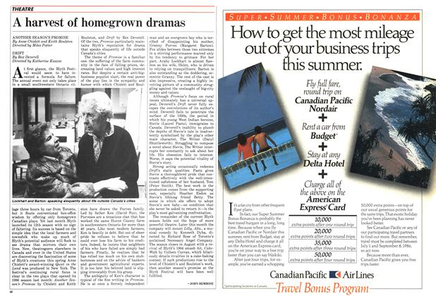 Article Preview: A harvest of homegrown dramas, July 1986 | Maclean's