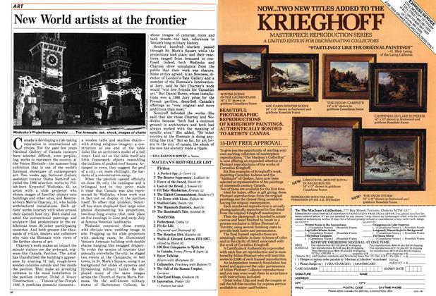 Article Preview: New World artists at the frontier, July 1986 | Maclean's