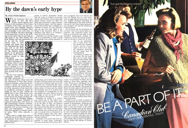 Article Preview: By the dawn's early hype, July 1986 | Maclean's