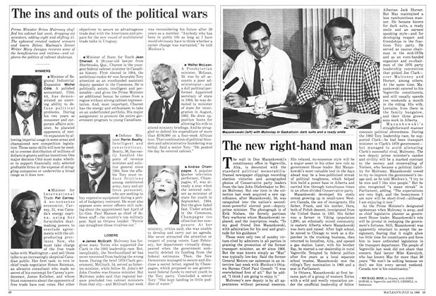 Article Preview: The new right-hand man, July 1986 | Maclean's