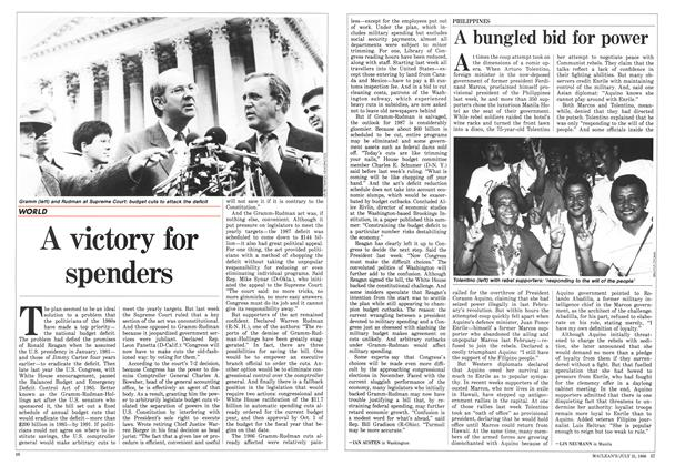 Article Preview: A victory for spenders, July 1986 | Maclean's