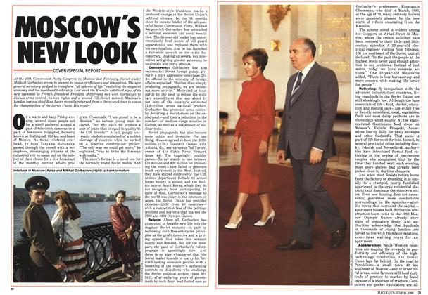 Article Preview: MOSCOW'S NEW LOOK, July 1986 | Maclean's