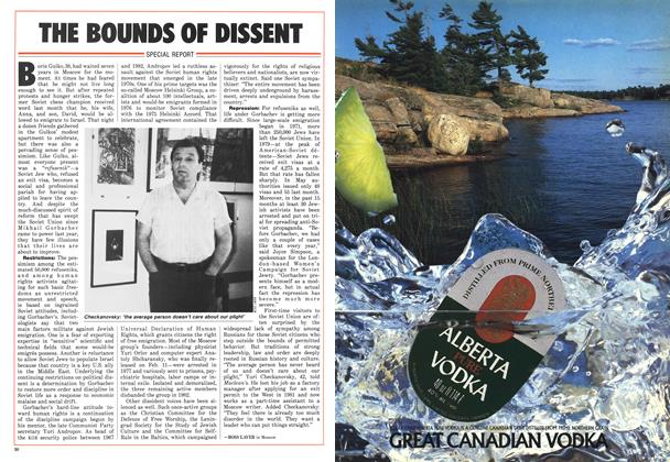Article Preview: THE BOUNDS OF DISSENT, July 1986   Maclean's