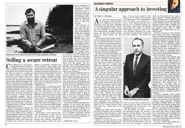 Article Preview: A singular approach to investing, July 1986 | Maclean's