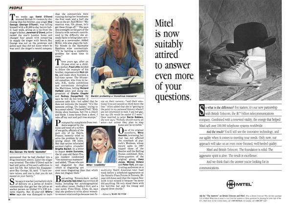 Article Preview: PEOPLE, July 1986   Maclean's