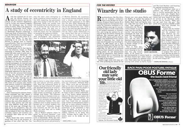 Article Preview: A study of eccentricity in England, July 1986 | Maclean's