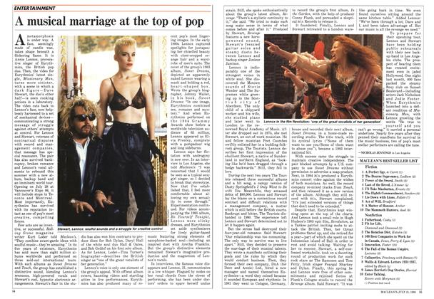 Article Preview: A musical marriage at the top of pop, July 1986 | Maclean's