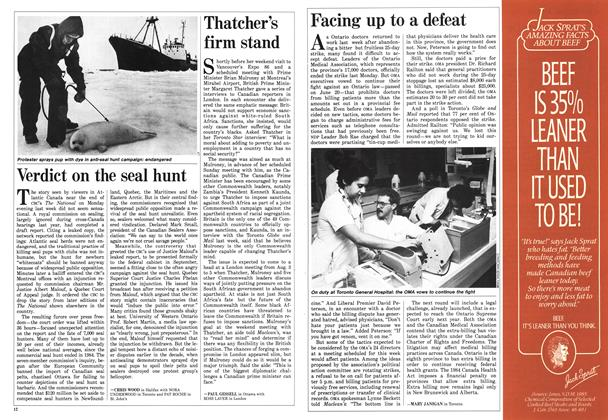 Article Preview: Thatcher's firm stand, July 1986 | Maclean's