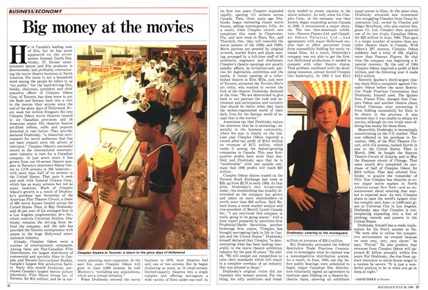 Article Preview: Big money at the movies, July 1986 | Maclean's