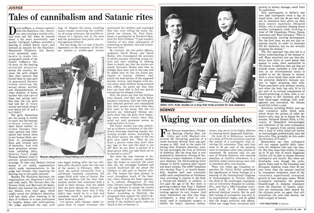 Article Preview: Waging war on diabetes, July 1986 | Maclean's