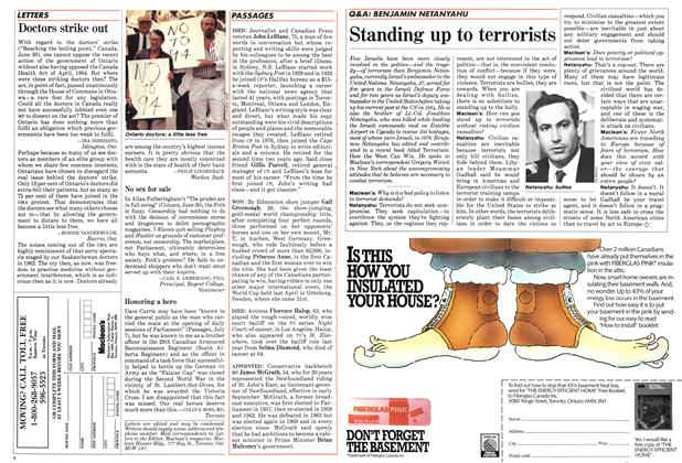 Article Preview: Doctors strike out, July 1986 | Maclean's