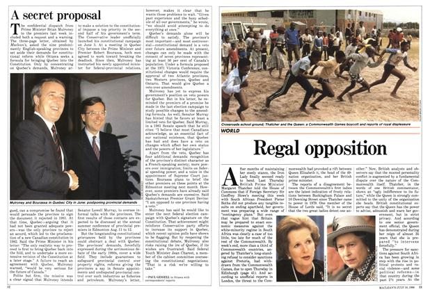 Article Preview: Regal opposition, July 1986 | Maclean's