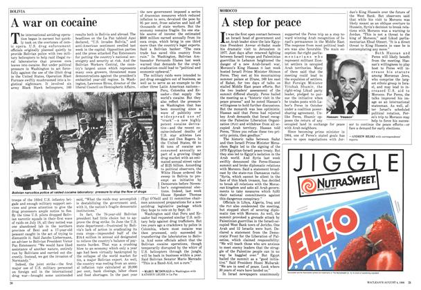 Article Preview: A step for peace, August 1986 | Maclean's