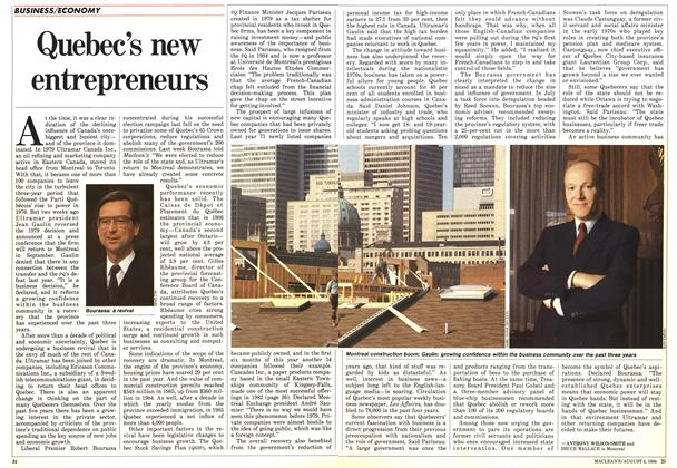 Article Preview: Quebec's new entrepreneurs, August 1986 | Maclean's