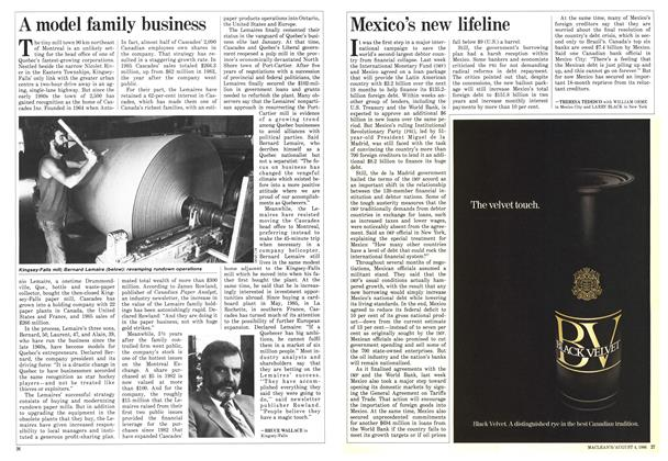 Article Preview: A model family business, August 1986 | Maclean's