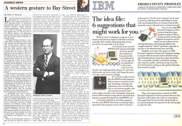 Article Preview: A western gesture to Bay Street, August 1986 | Maclean's