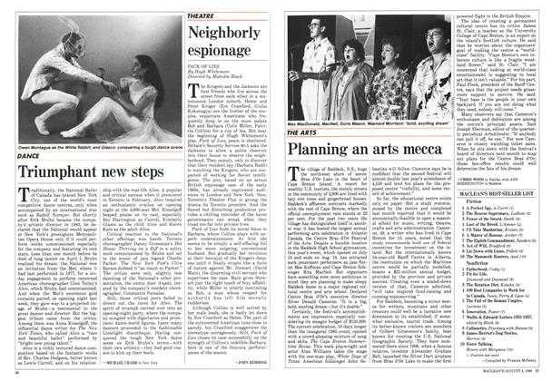 Article Preview: Planning an arts mecca, August 1986 | Maclean's