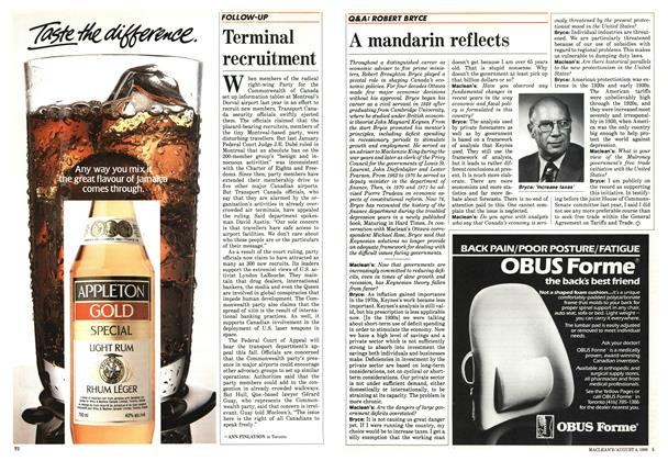 Article Preview: Terminal recruitment, August 1986 | Maclean's