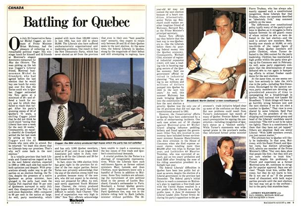 Article Preview: Battling for Quebec, August 1986 | Maclean's