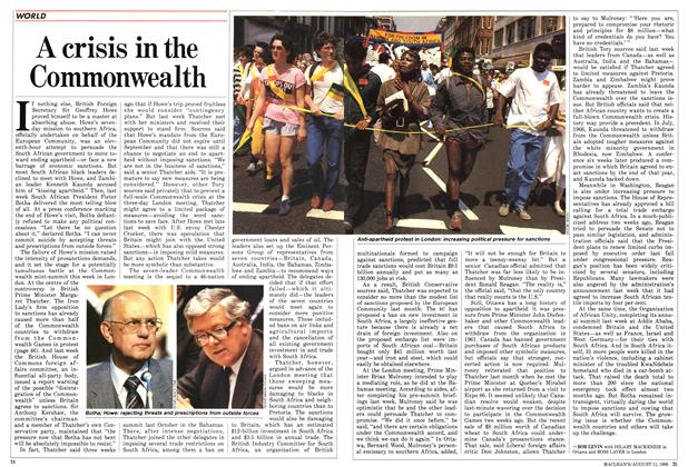 Article Preview: A crisis in the Commonwealth, August 1986 | Maclean's