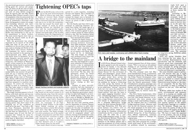Article Preview: Tightening OPEC's taps, August 1986 | Maclean's