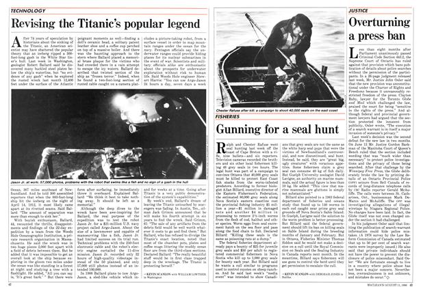 Article Preview: Revising the Titanic's popular legend, August 1986 | Maclean's