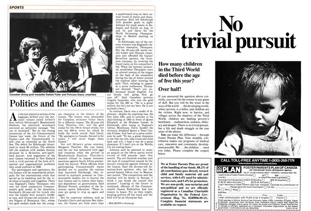 Article Preview: Politics and the Games, August 1986 | Maclean's