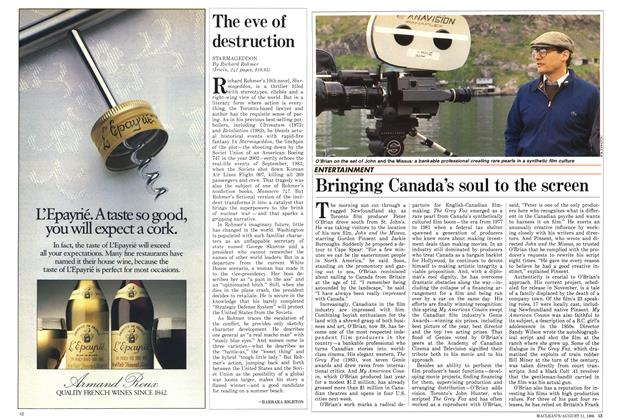 Article Preview: Bringing Canada's soul to the screen, August 1986 | Maclean's