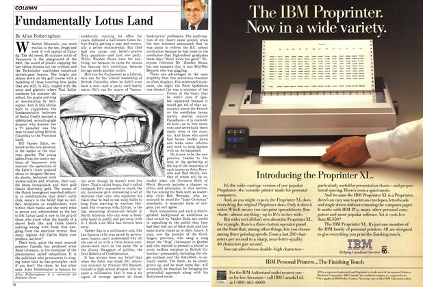 Article Preview: Fundamentally Lotus Land, August 1986 | Maclean's
