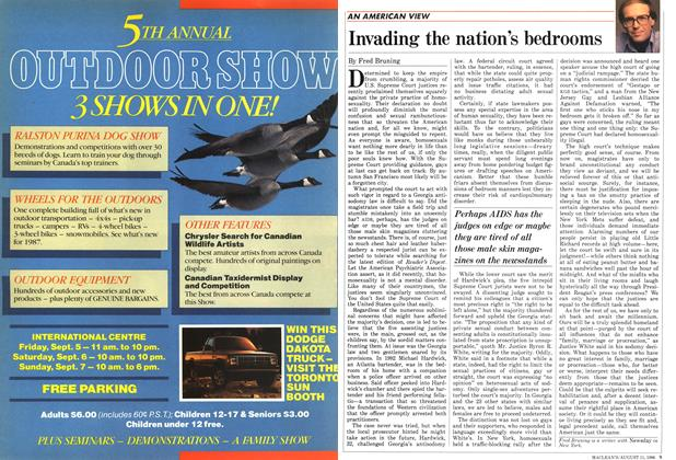 Article Preview: Invading the nation's bedrooms, August 1986 | Maclean's