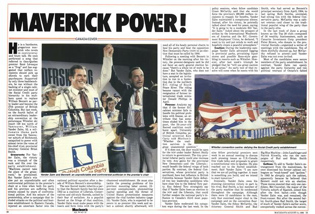 Article Preview: MAVERICK POWER!, August 1986 | Maclean's