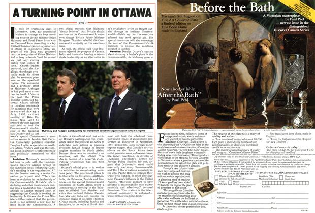 Article Preview: A TURNING POINT IN OTTAWA, August 1986 | Maclean's